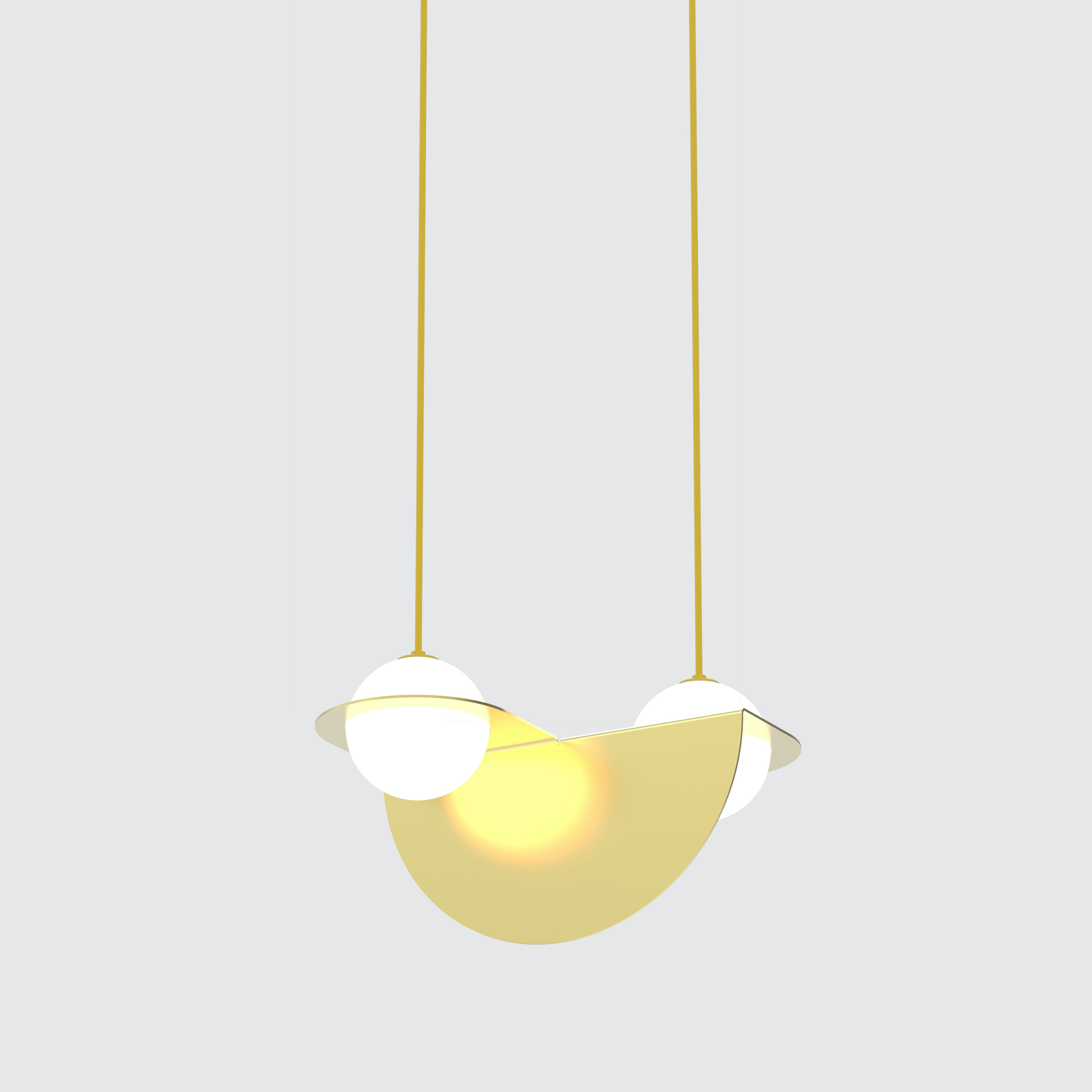 Lambert & Fils gold laurent 01 hanging lamp haute living