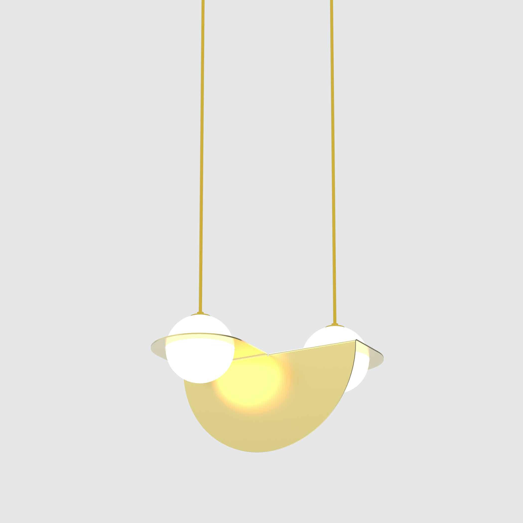 Lambert & Fils gold laurent 01 hanging lamp haute living