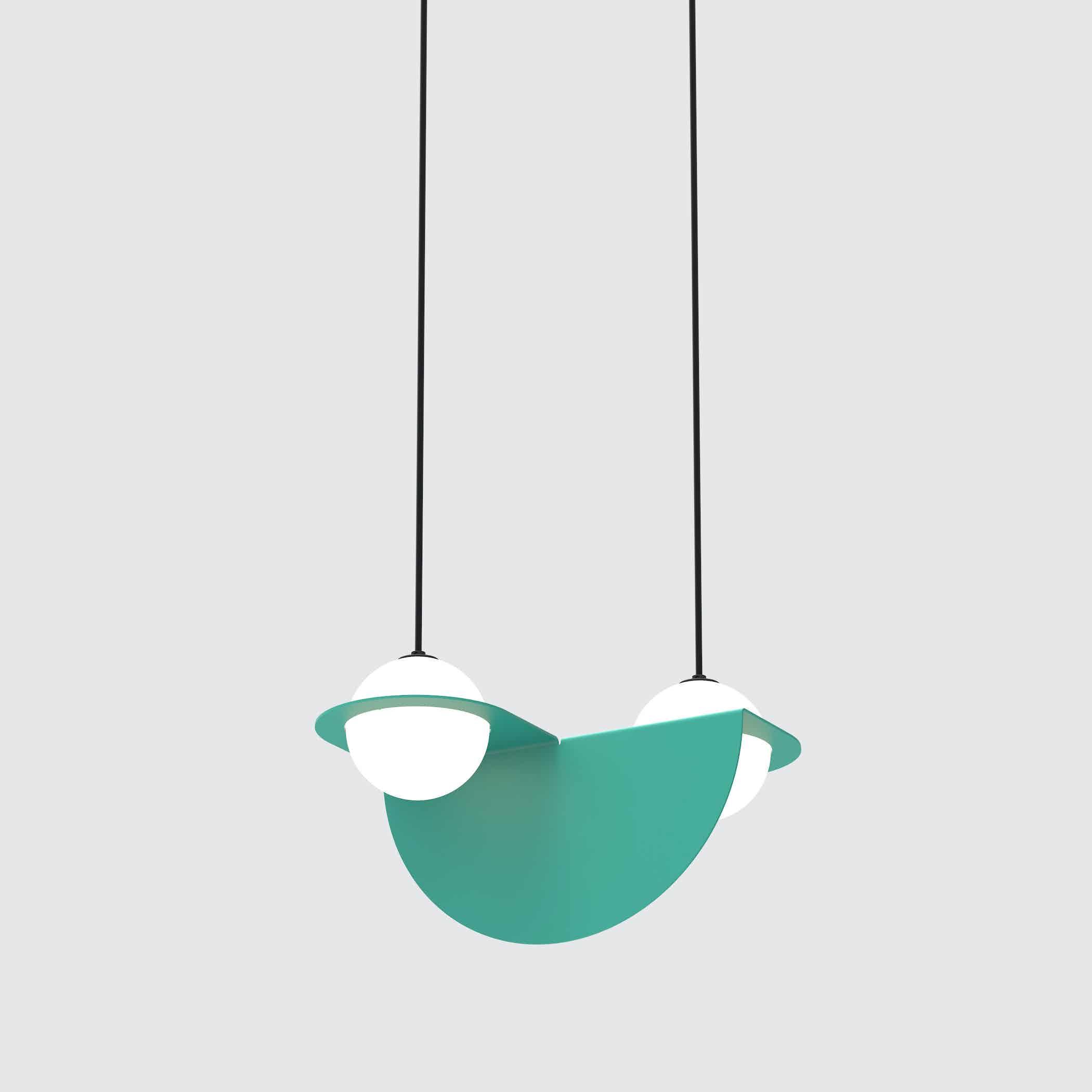 Lambert & Fils green laurent 01 hanging lamp haute living