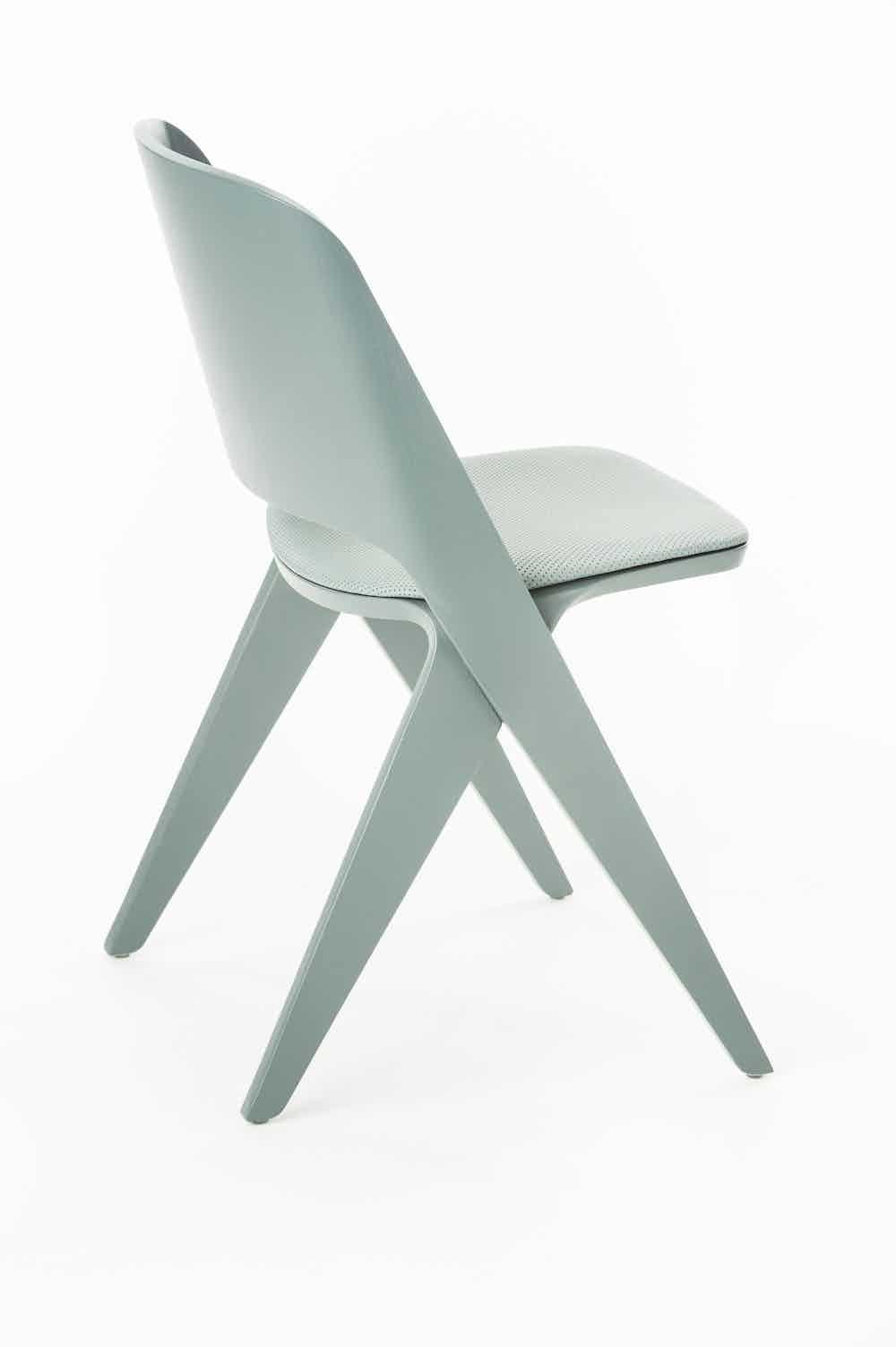 Poiat Grey Teal Upholstered Lavitta Chair Haute Living