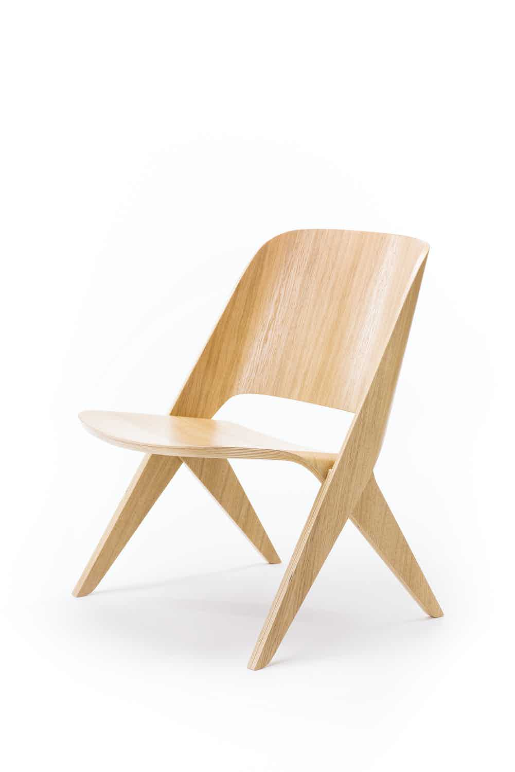 Poiat Oak Lavitta Lounge Chair Haute Living