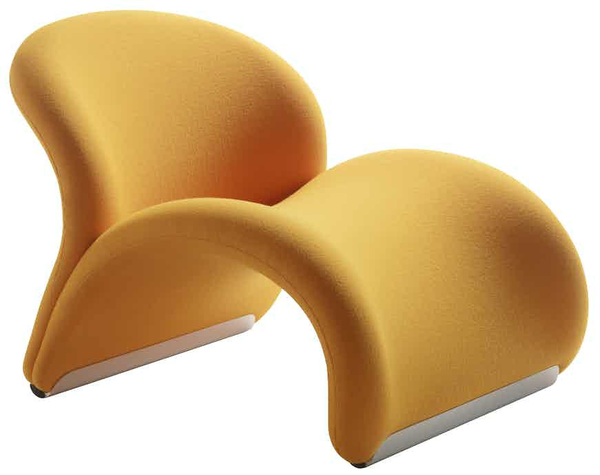 Artifort Yellow Le Chat Chair Angle Thumbnail
