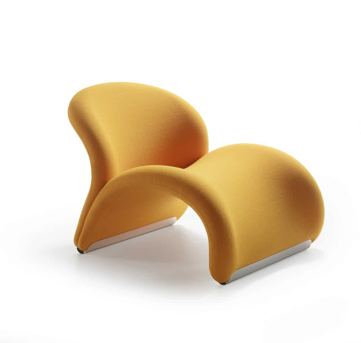 Artifort Yellow Le Chat Chair Angle