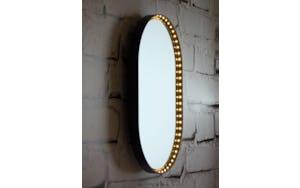 oval vanity mirror by le deun luminaires haute living. Black Bedroom Furniture Sets. Home Design Ideas