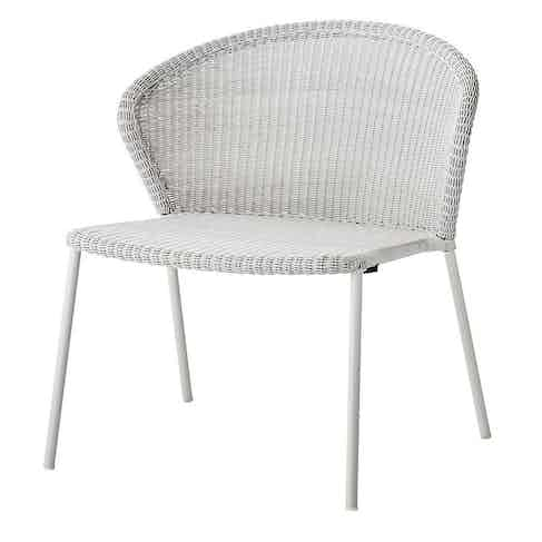 Cane-line-white-lean-lounge-chair-haute-living