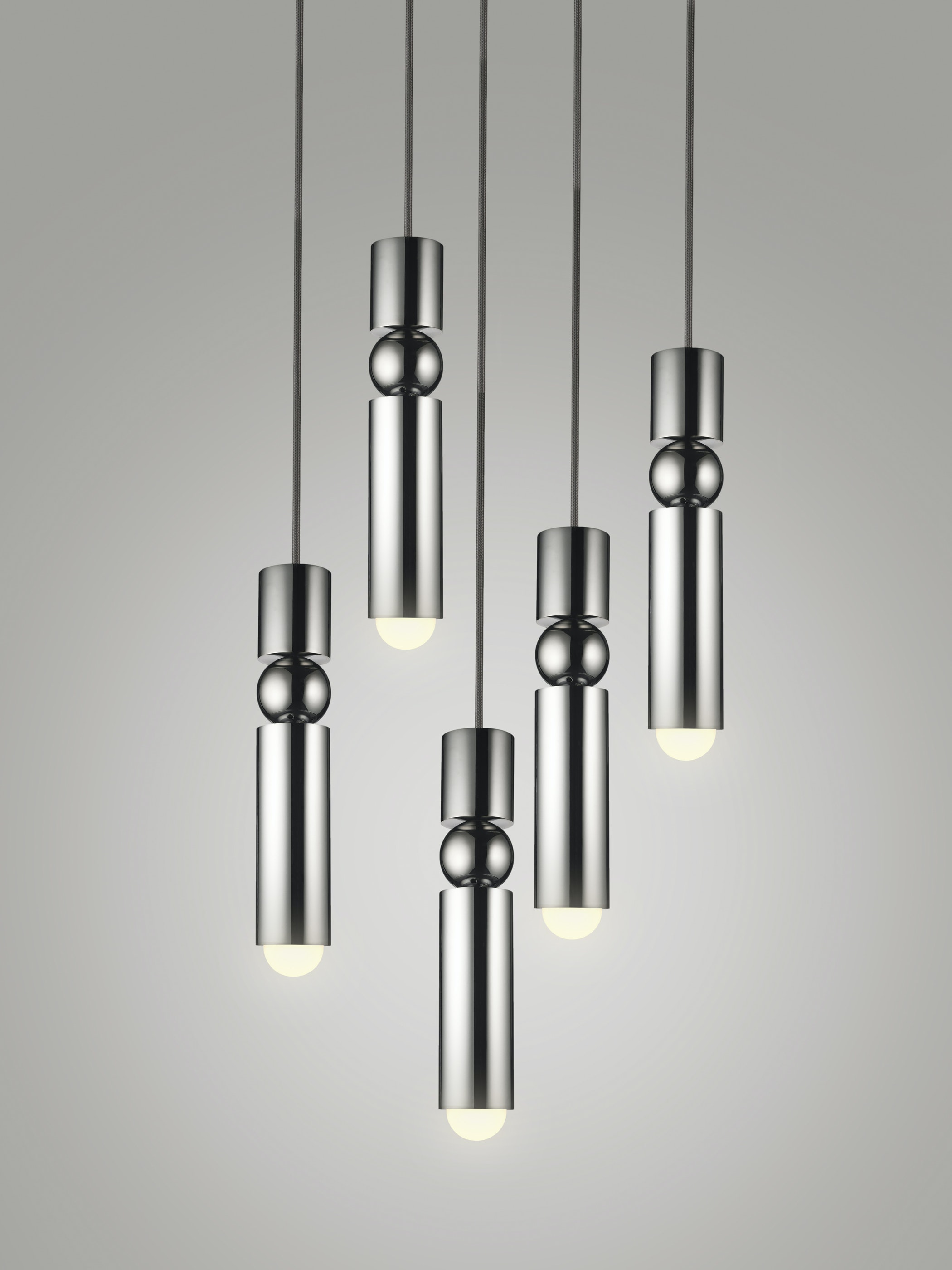 Fulcrum Light Chandelier Chrome White Background 01