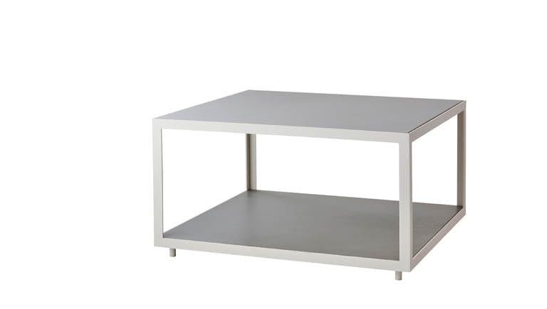 Level Coffee Table Large Light Grey White
