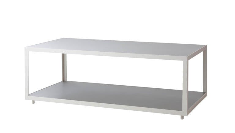 Level Coffee Table Rectangular Light Grey White