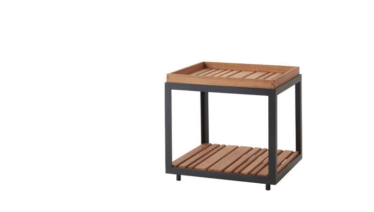 Level Coffee Table Small Teak Lava Grey 1