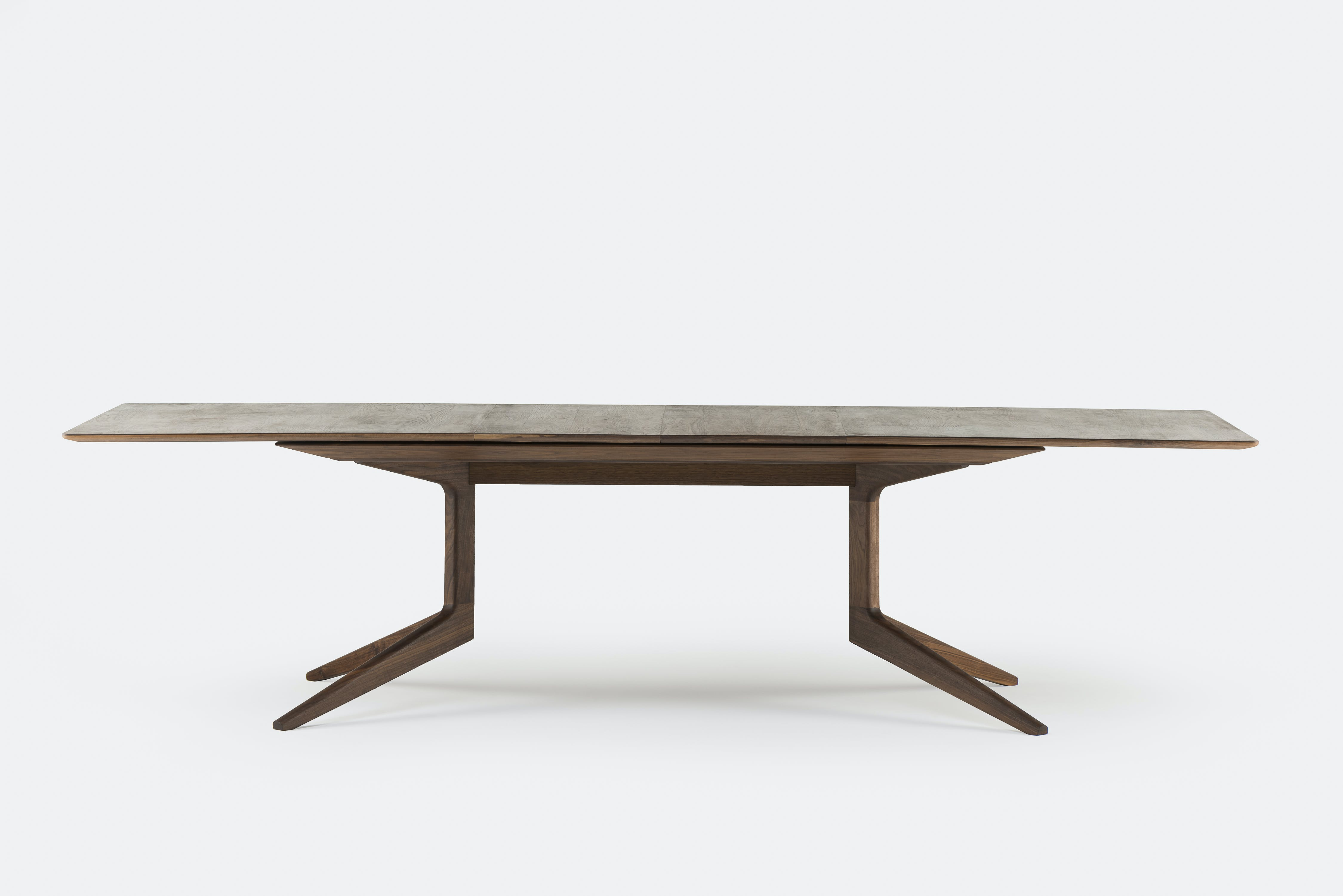 De La Espada Matthew Hilton Light Extending Table Walnut Large Haute Living