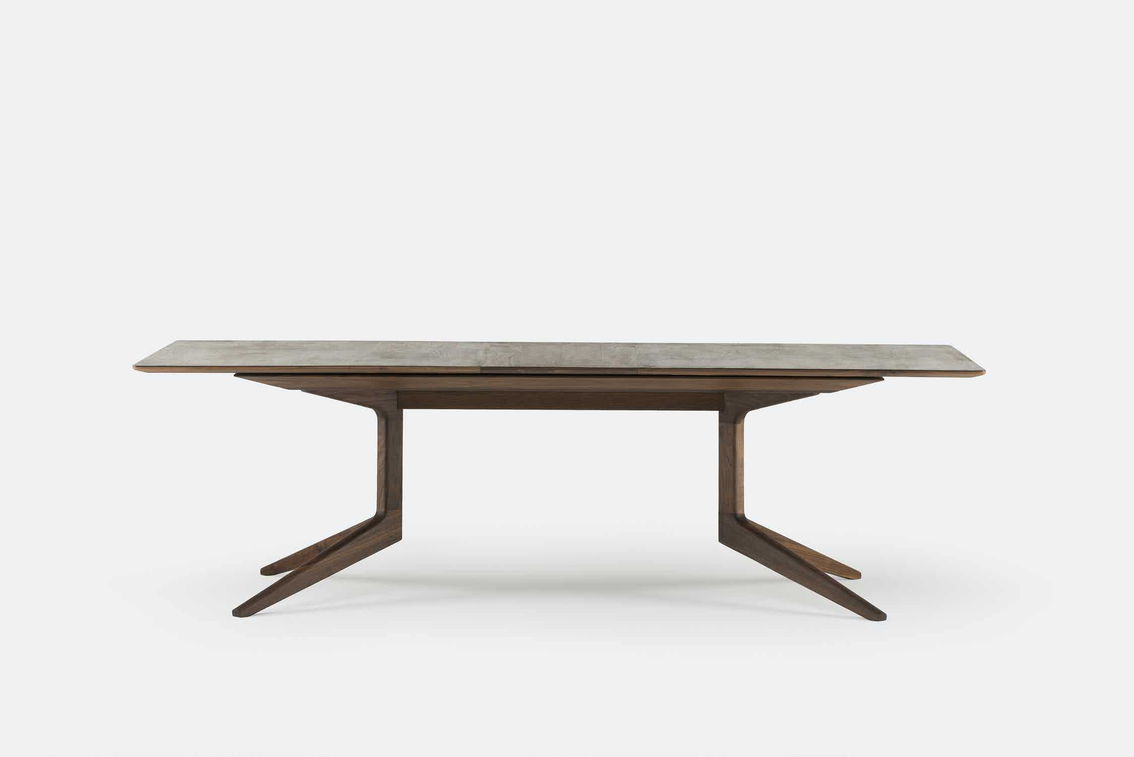 De La Espada Matthew Hilton Light Extending Table Walnut Medium Haute Living