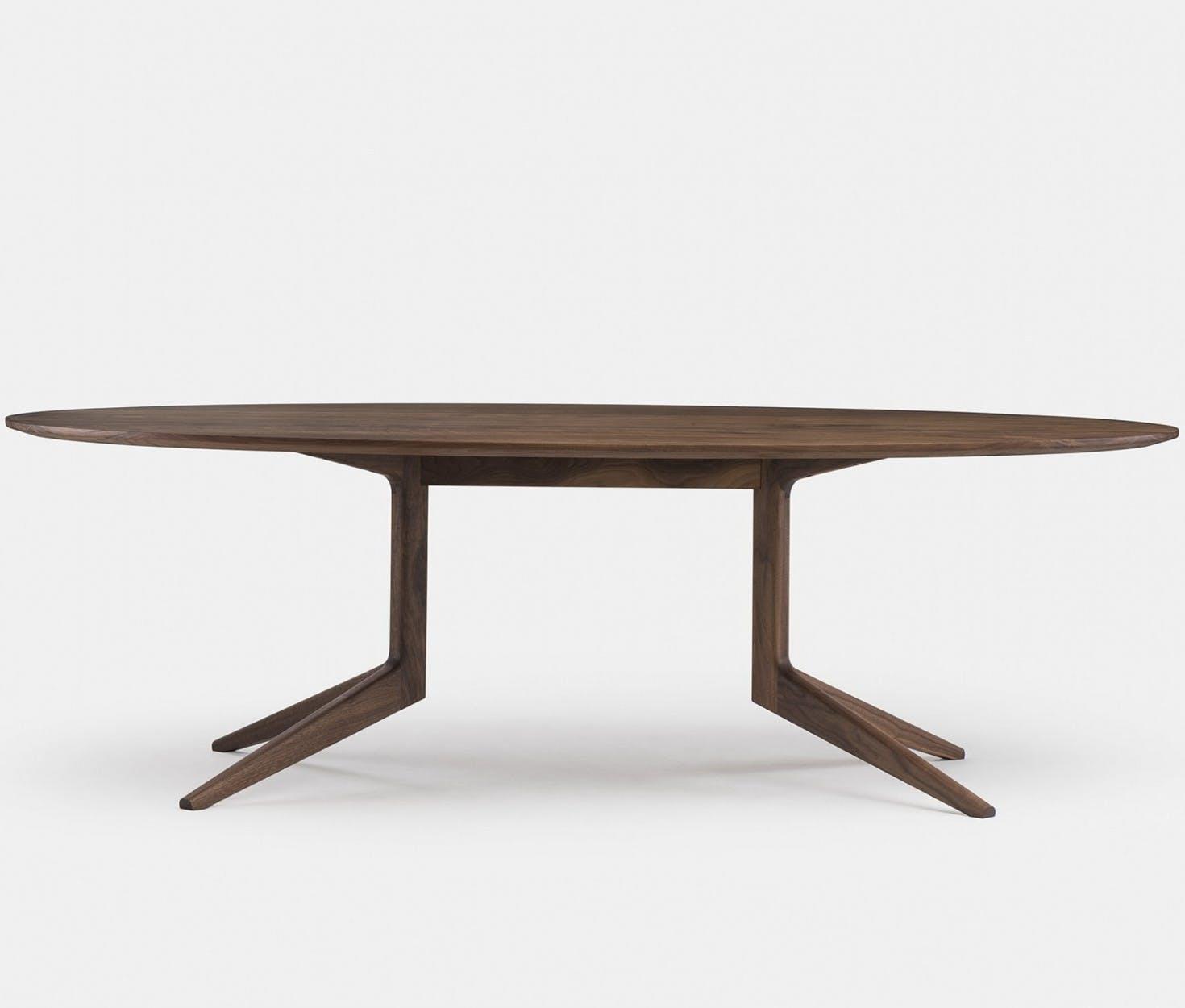 394Fm Light Oval Table By Matthew Hilton In Walnut Frontweb 1840X1250