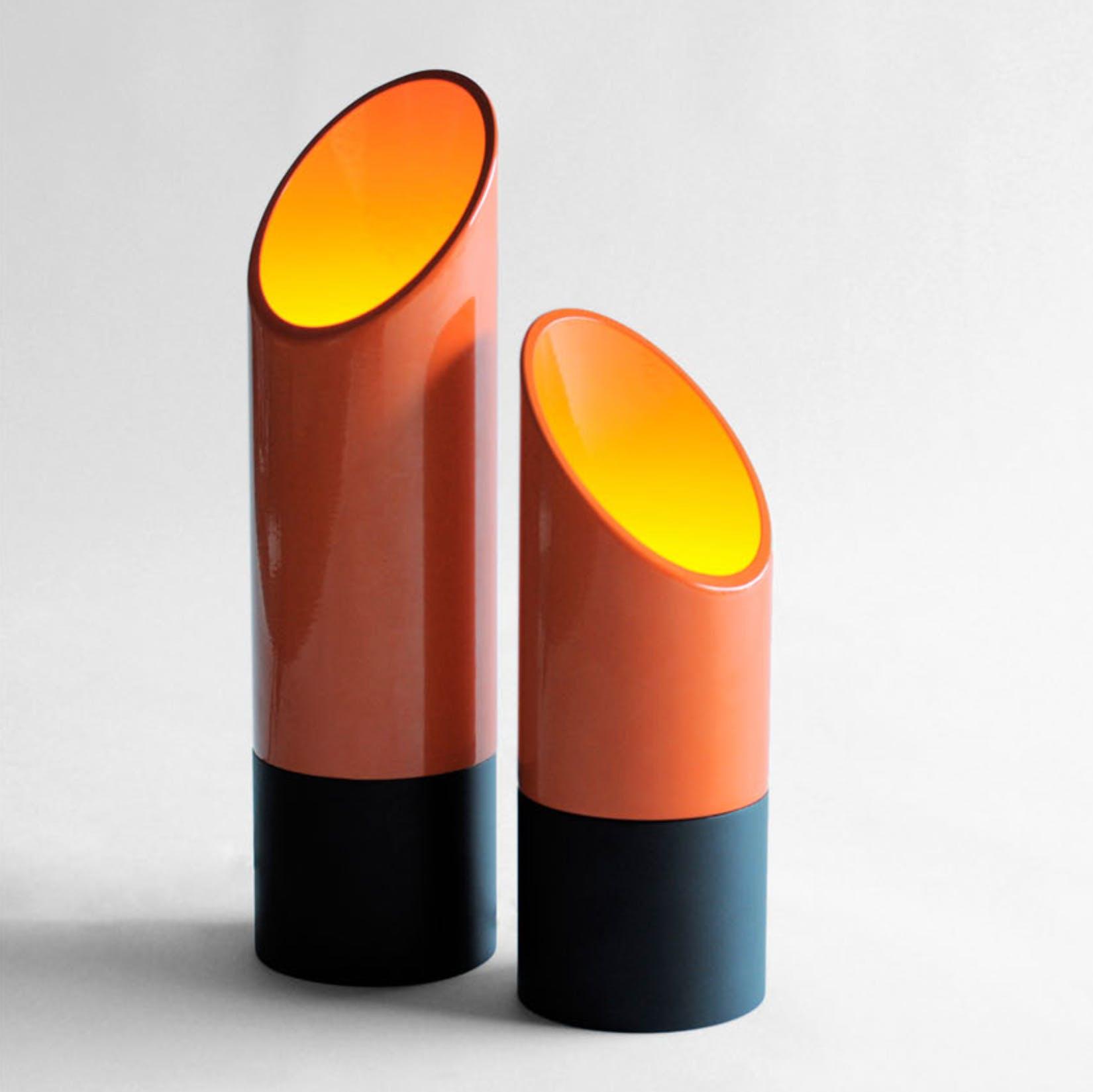 Phase Design Lipstick Table Orange Haute Living