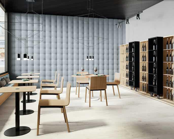 Punt Furniture Lite Light Insitu Blue Brown Front Haute Living