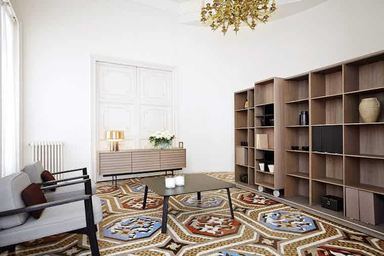 Punt Furniture Lite Light Insitu Brown Large Angle Haute Living