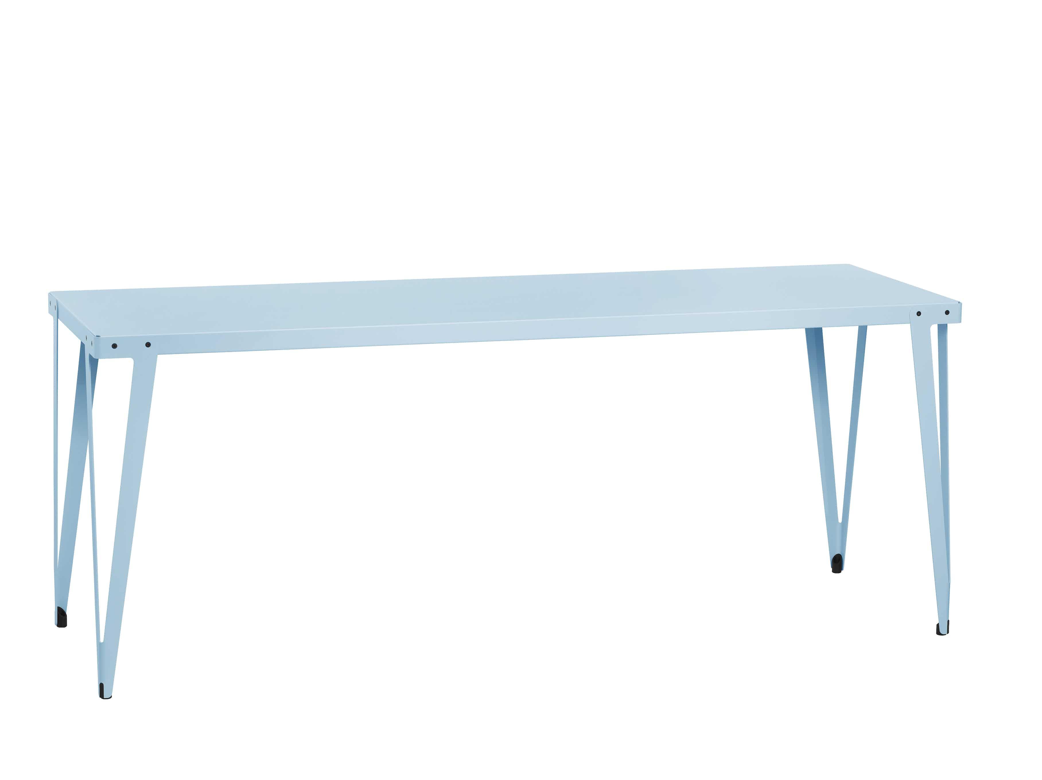 Functionals Rectangular Light Blue Lloyd High Table Haute Living