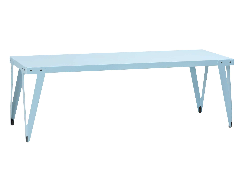 Functionals Light Blue Rectangular Lloyd Dining Table Haute Living