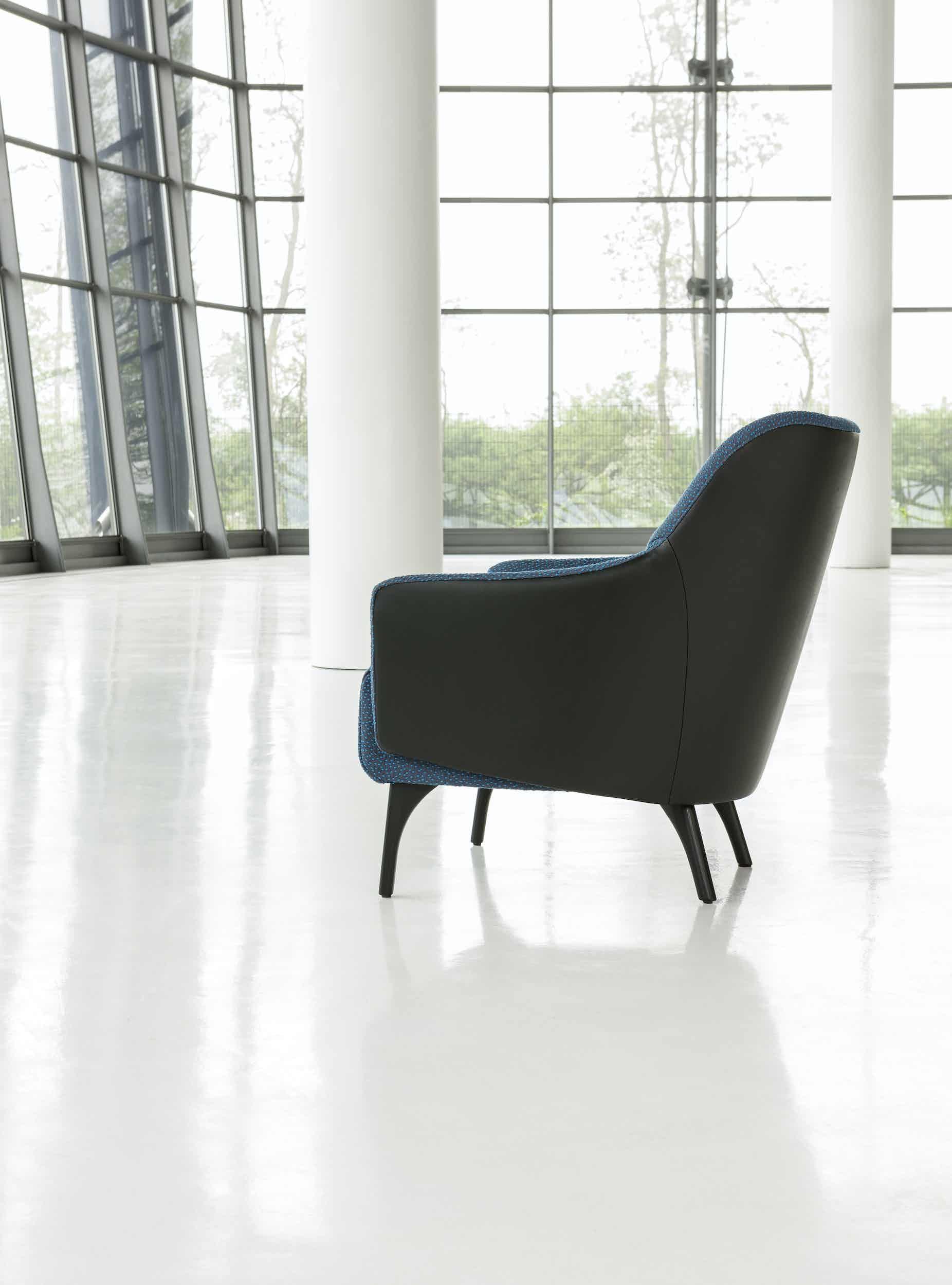 Jab Anstoetz Blue Flow Armchair Side Haute Living