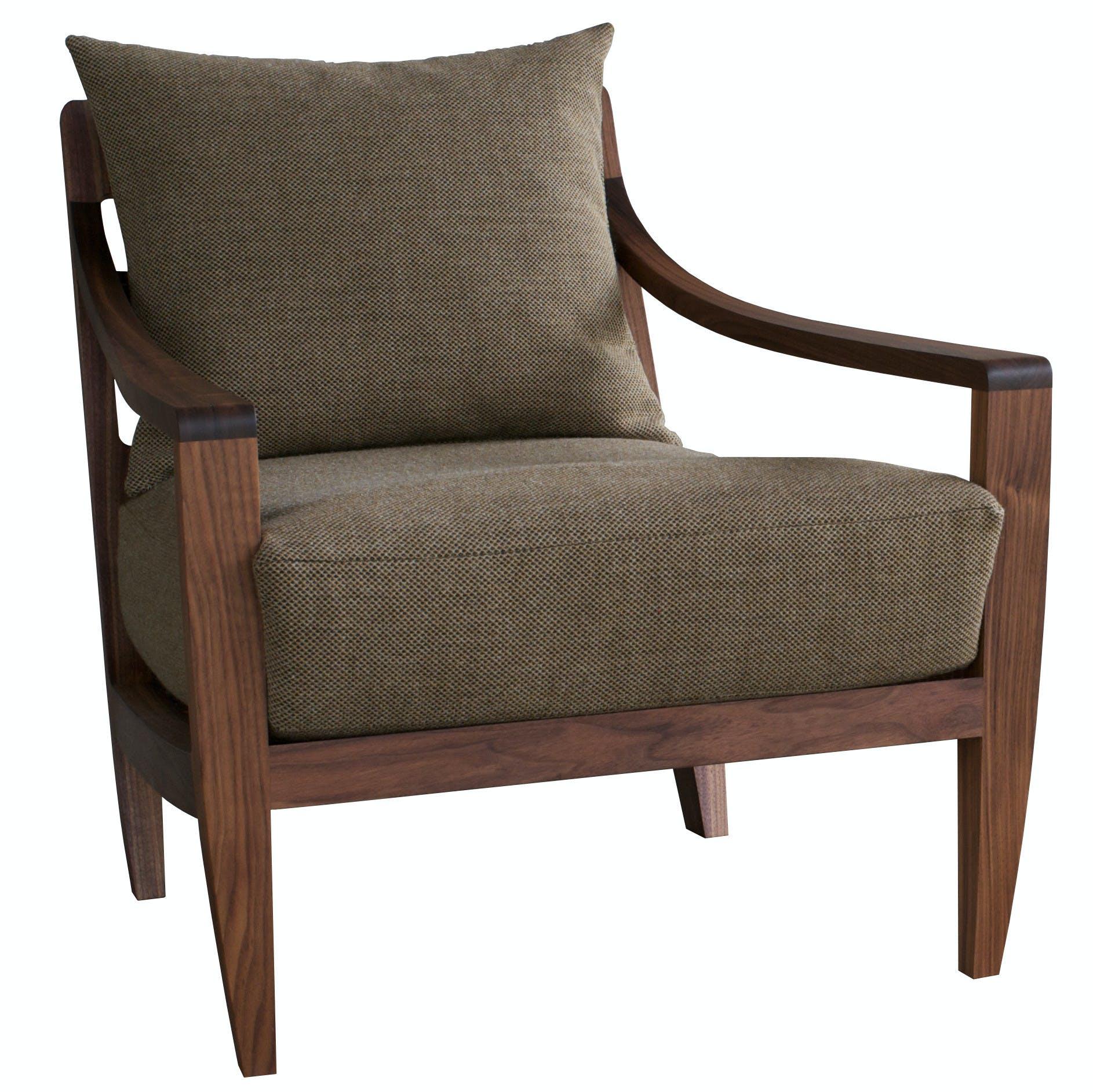 De La Espada Matthew Hilton Low Lounge Chair Front 2 Haute Living