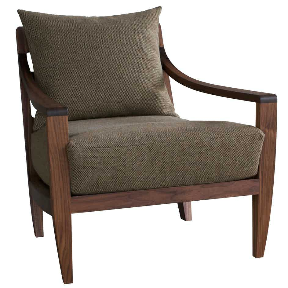 De La Espada Matthew Hilton Low Lounge Chair Front 2 Haute Living