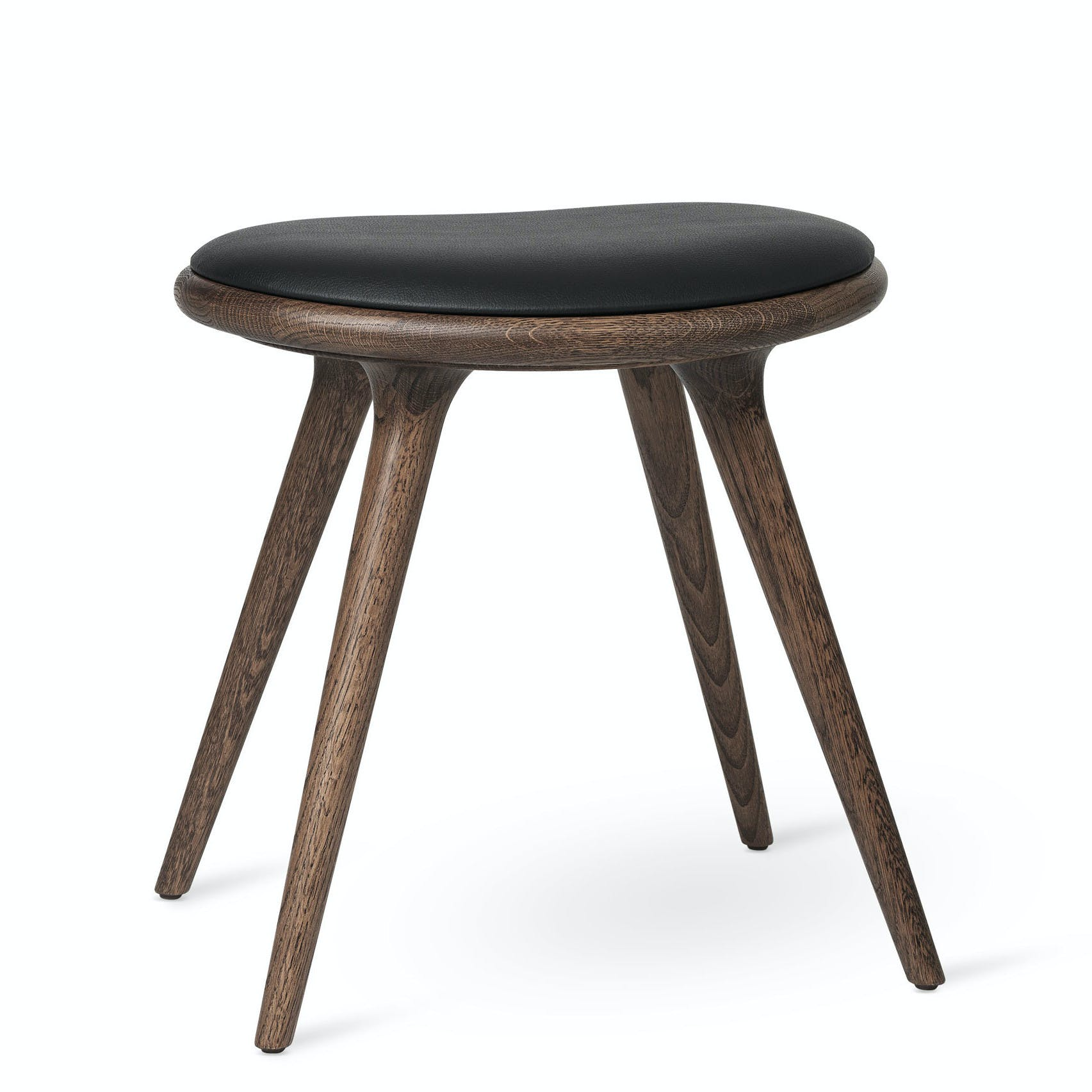Mater Dark Stained Oak Low Stool Haute Living