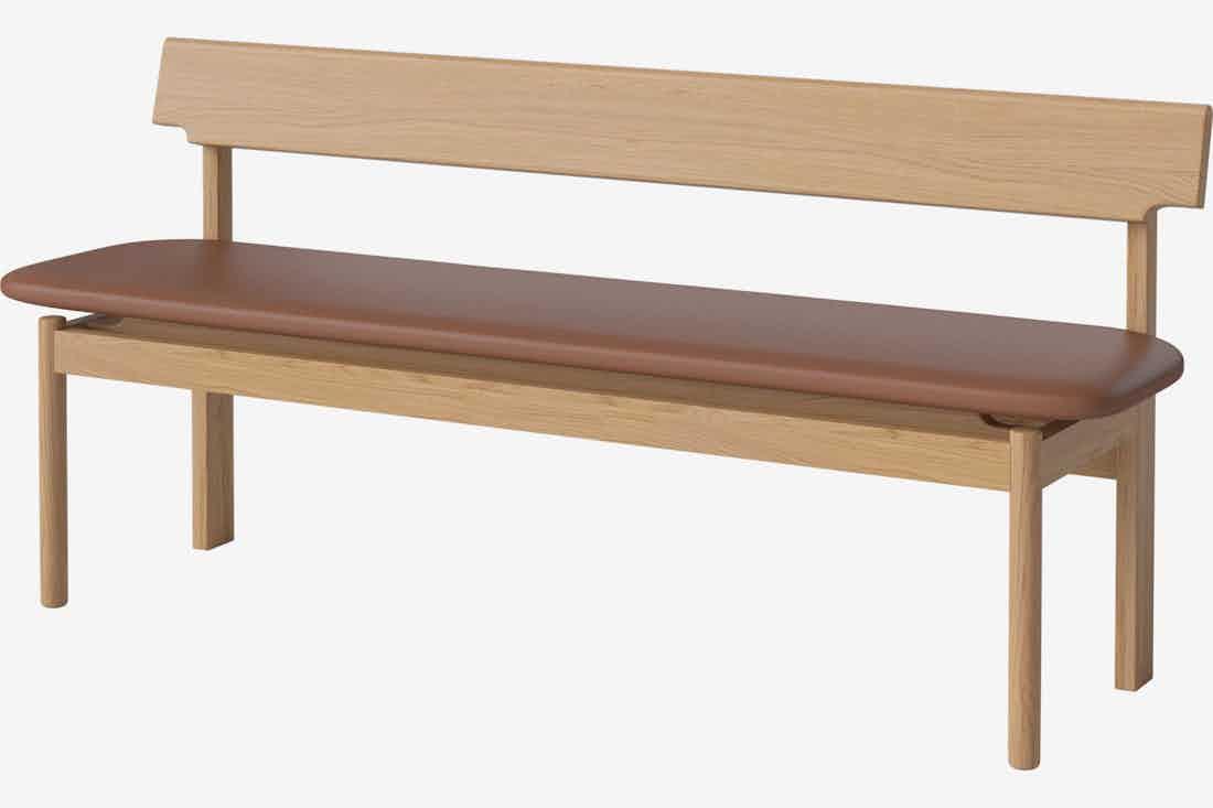 Bolia loyal bench brown haute living