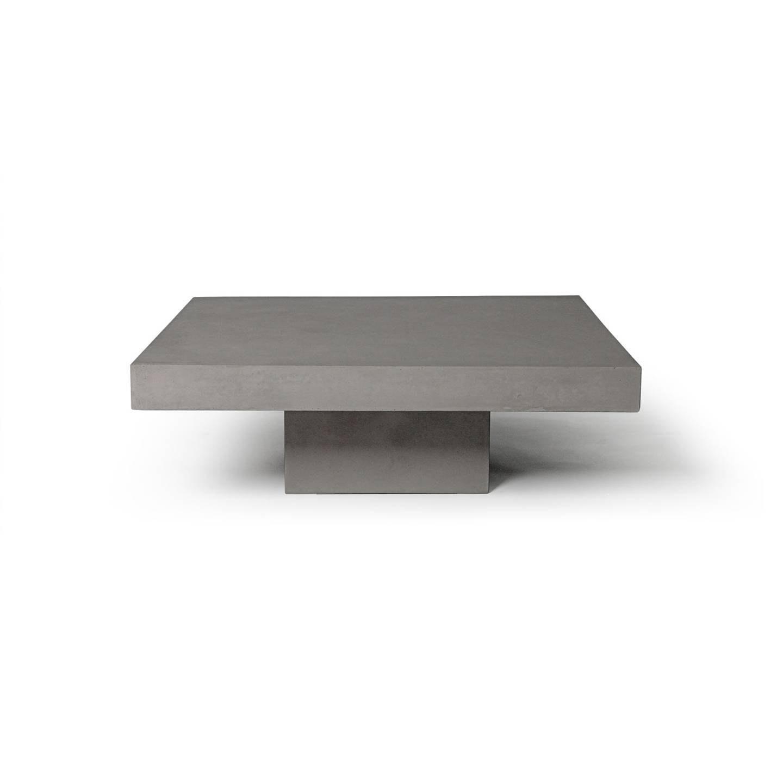 D 09026 Table Basse Beton Carree Design 01 C