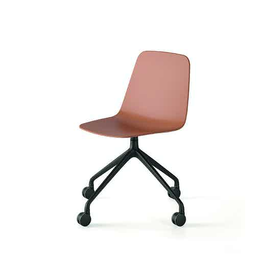 Viccarbe maarten plastic chair tan casters haute living
