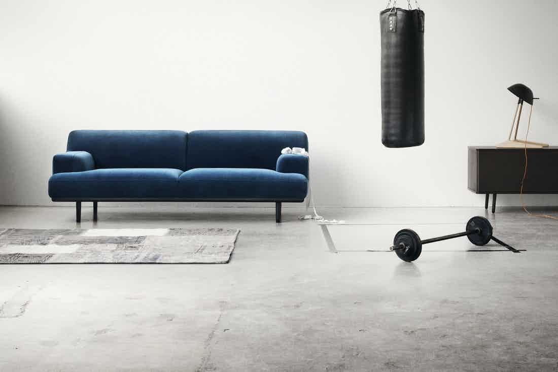 Bolia Blue Velvet Madison Sofa Insitu Haute Living