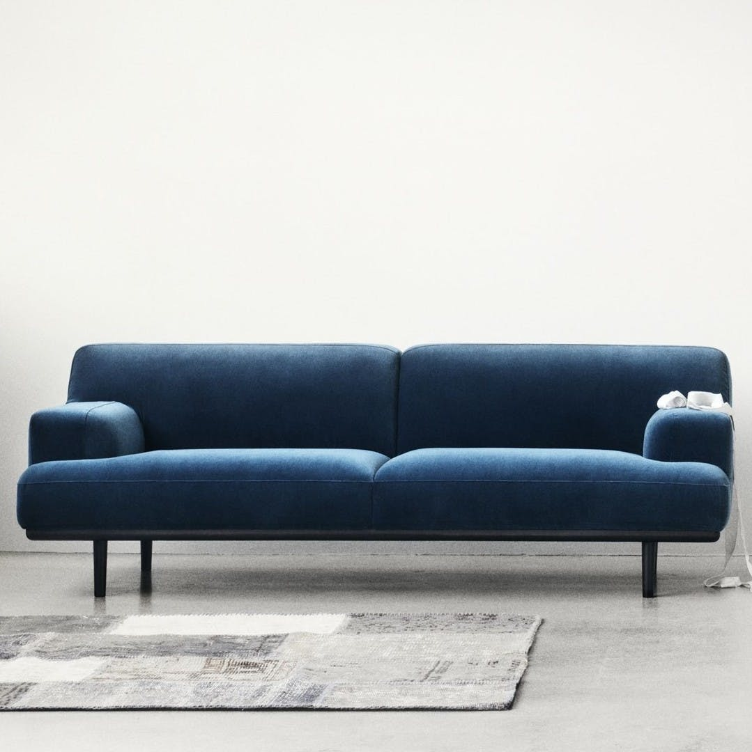 Bolia Blue Velvet Madison Sofa Insitu Haute Living