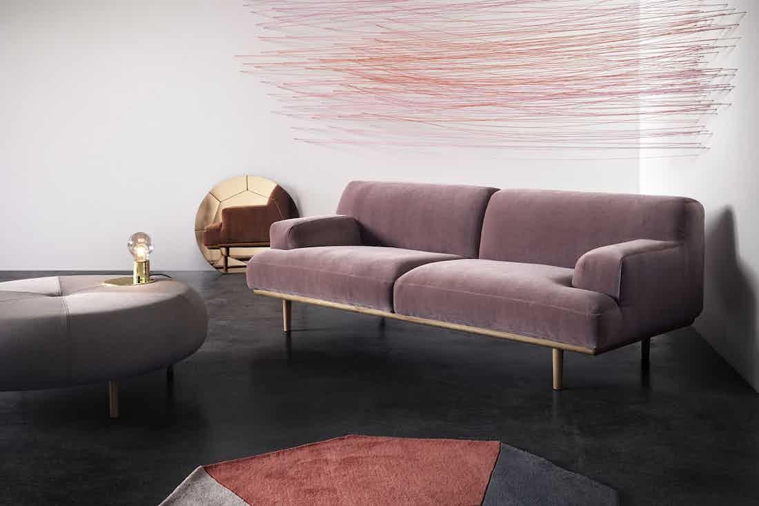 Bolia Pink Velvet Madison Sofa Haute Living