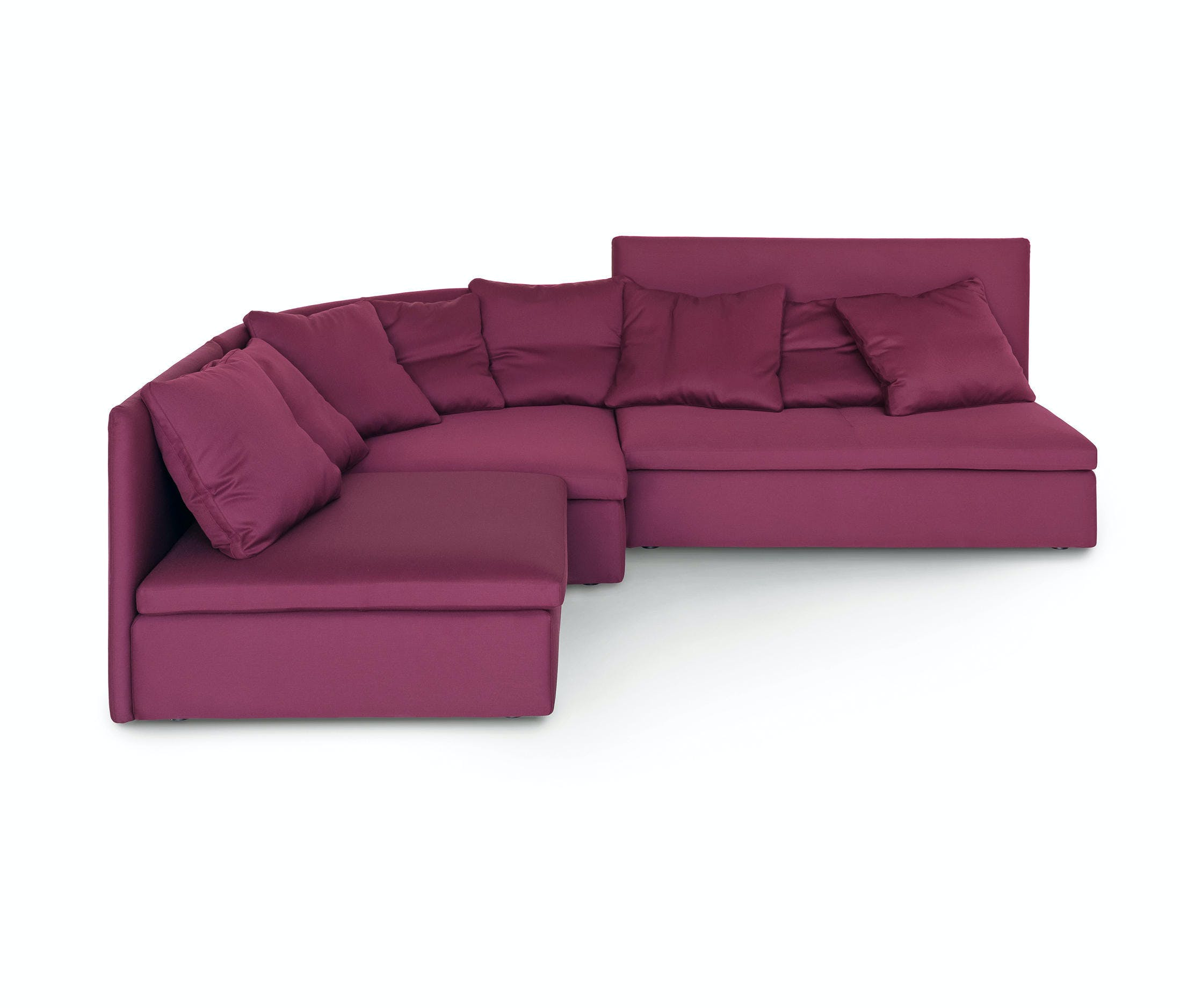 Arflex Fuschia Mangold Curved Sectional Sofa Haute Living