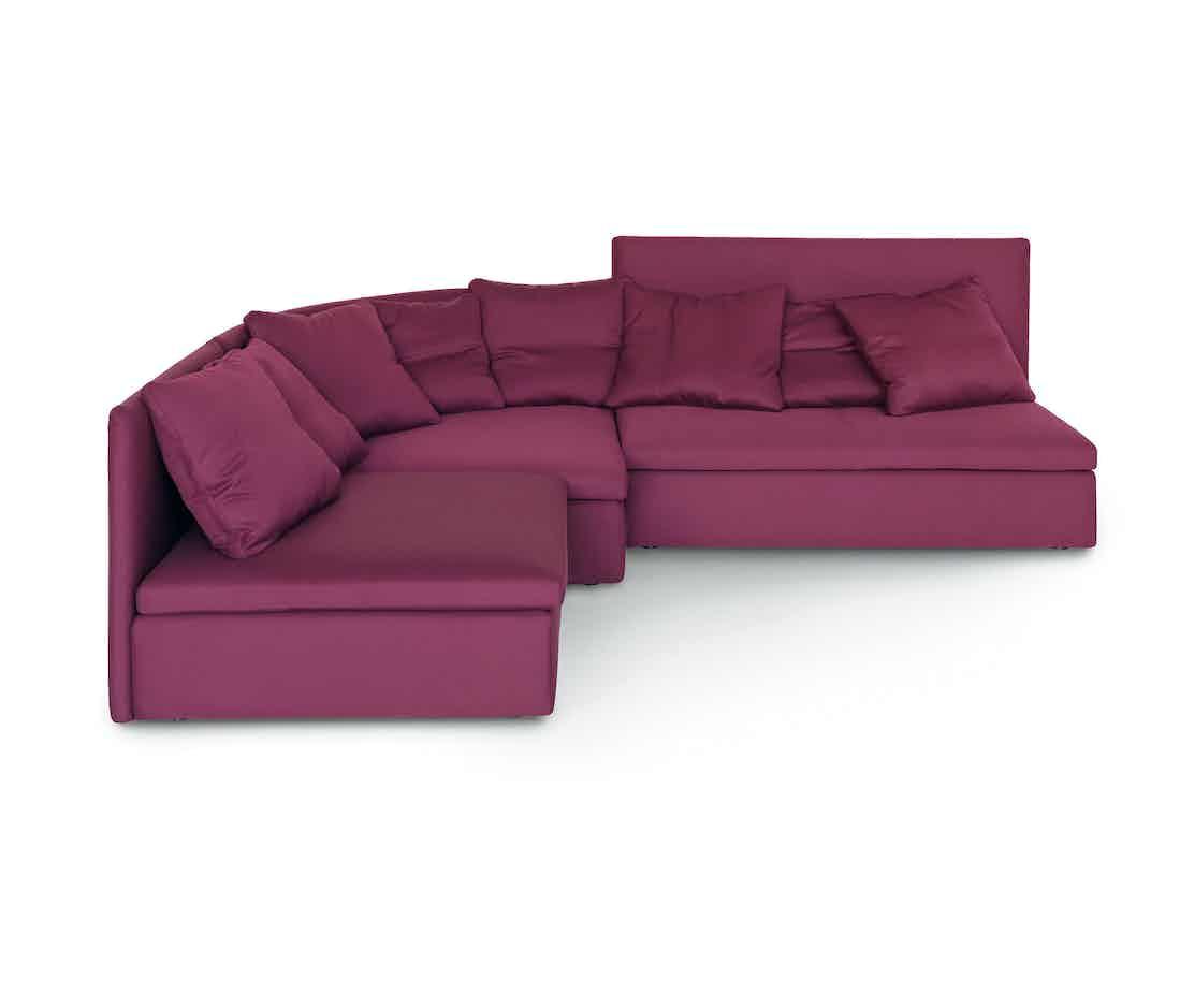 Arflex Fuschia Mangold Curved Sectional Sofa Haute Living