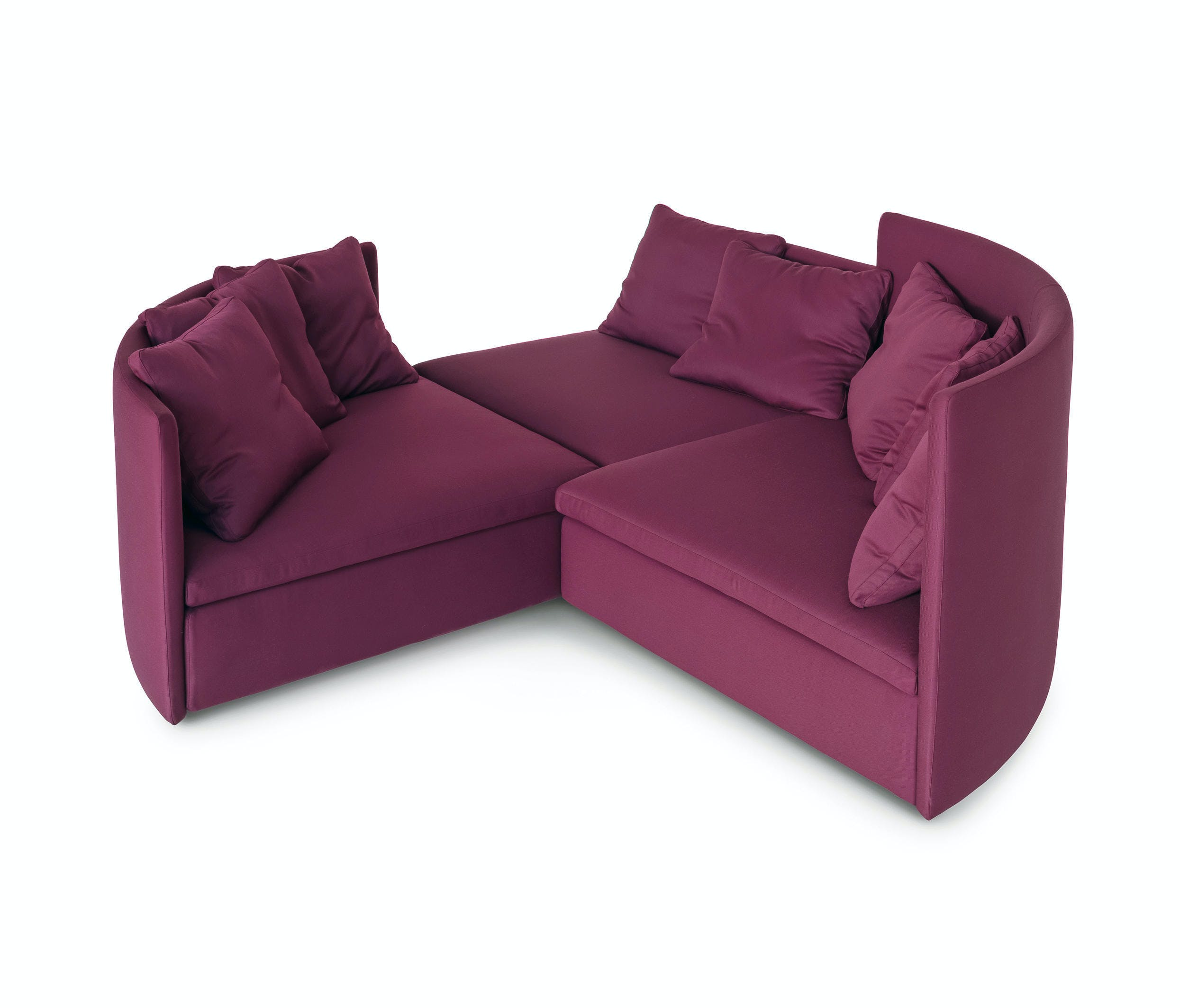 Arflex Fuschia Mangold Three Piece Sofa Haute Living