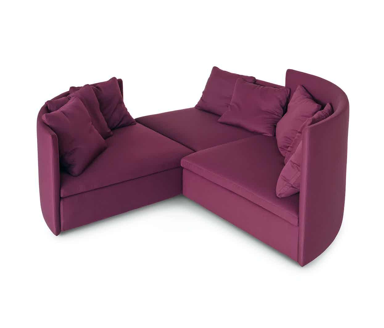 Arflex Fuschia Mangold Three Piece Sofa Haute Living