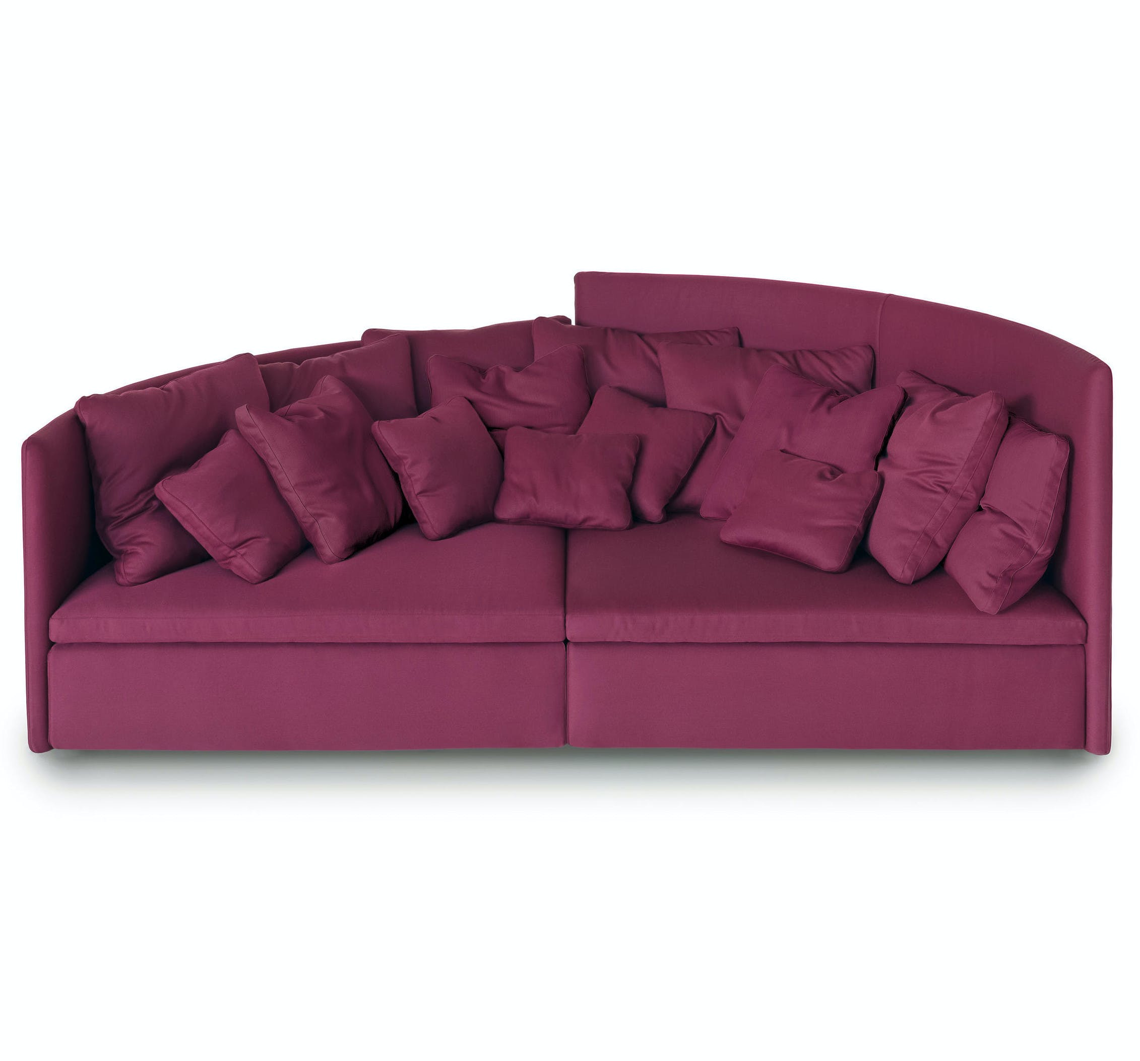 Arflex Fuschia Mangold Two Piece Modular Sofa Haute Living