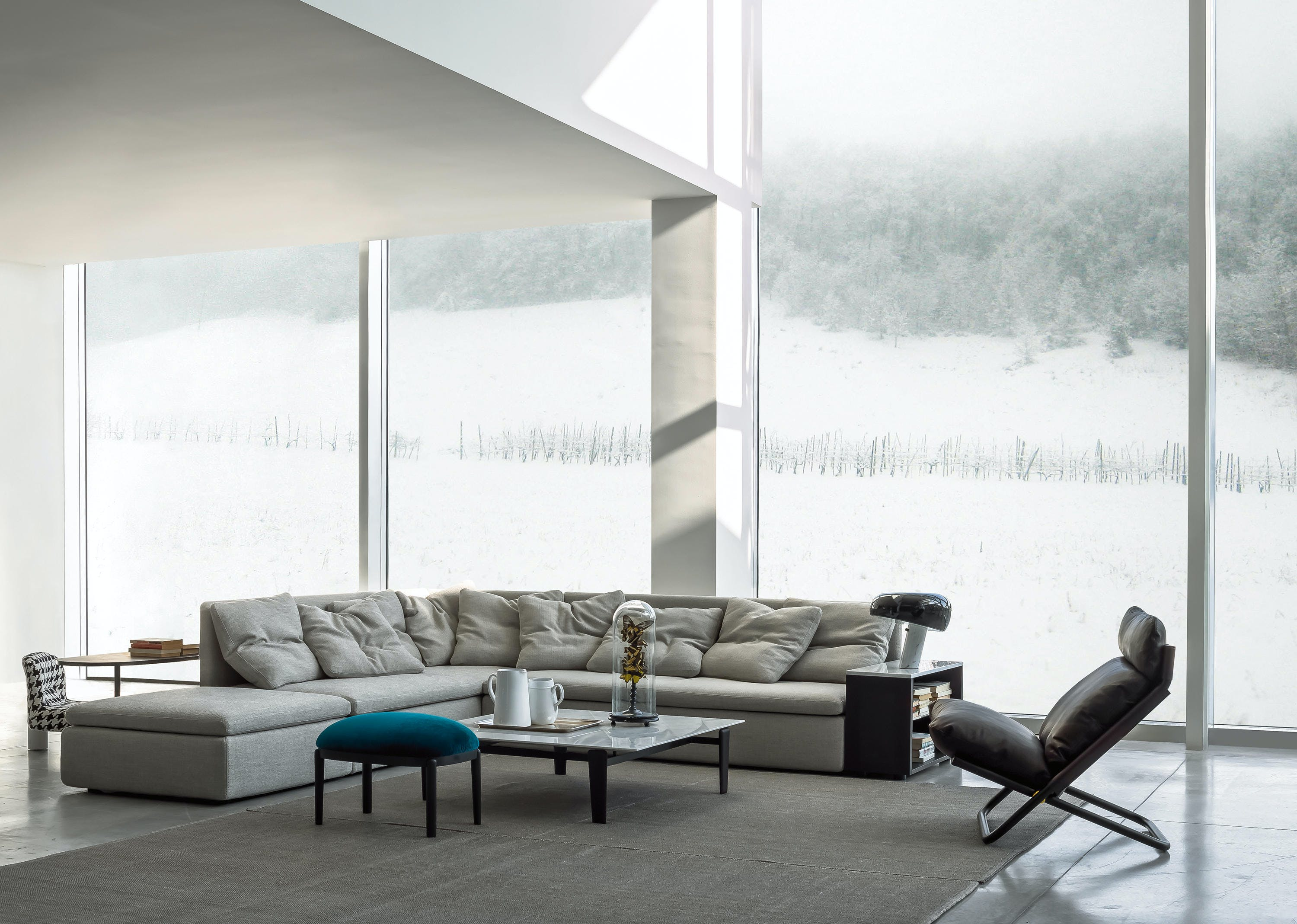 Arflex Grey Mangold Sectional Sofa Insitu Haute Living