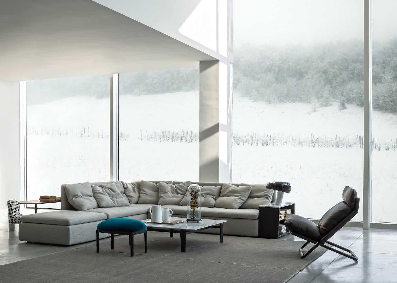 Arflex Grey Mangold Sectional Sofa Insitu Haute Living