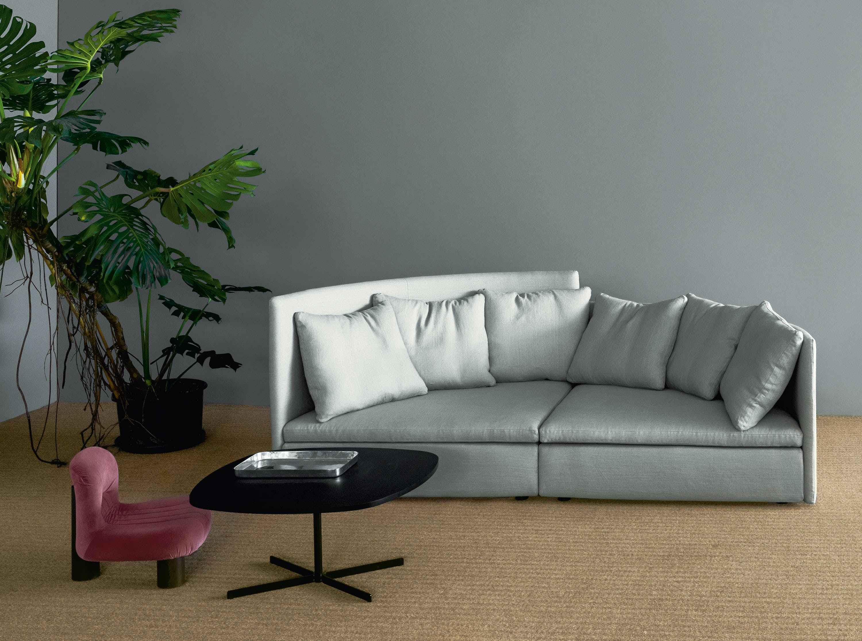 Arflex Grey Two Piece Mangold Sectional Sofa Insitu Haute Living
