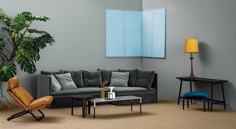 Arflex Grey Velvet Mangold Sofa Insitu Haute Living