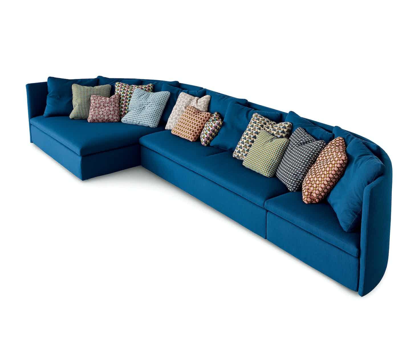 Arflex Mangold Blue Modular Sofa Angle Haute Living