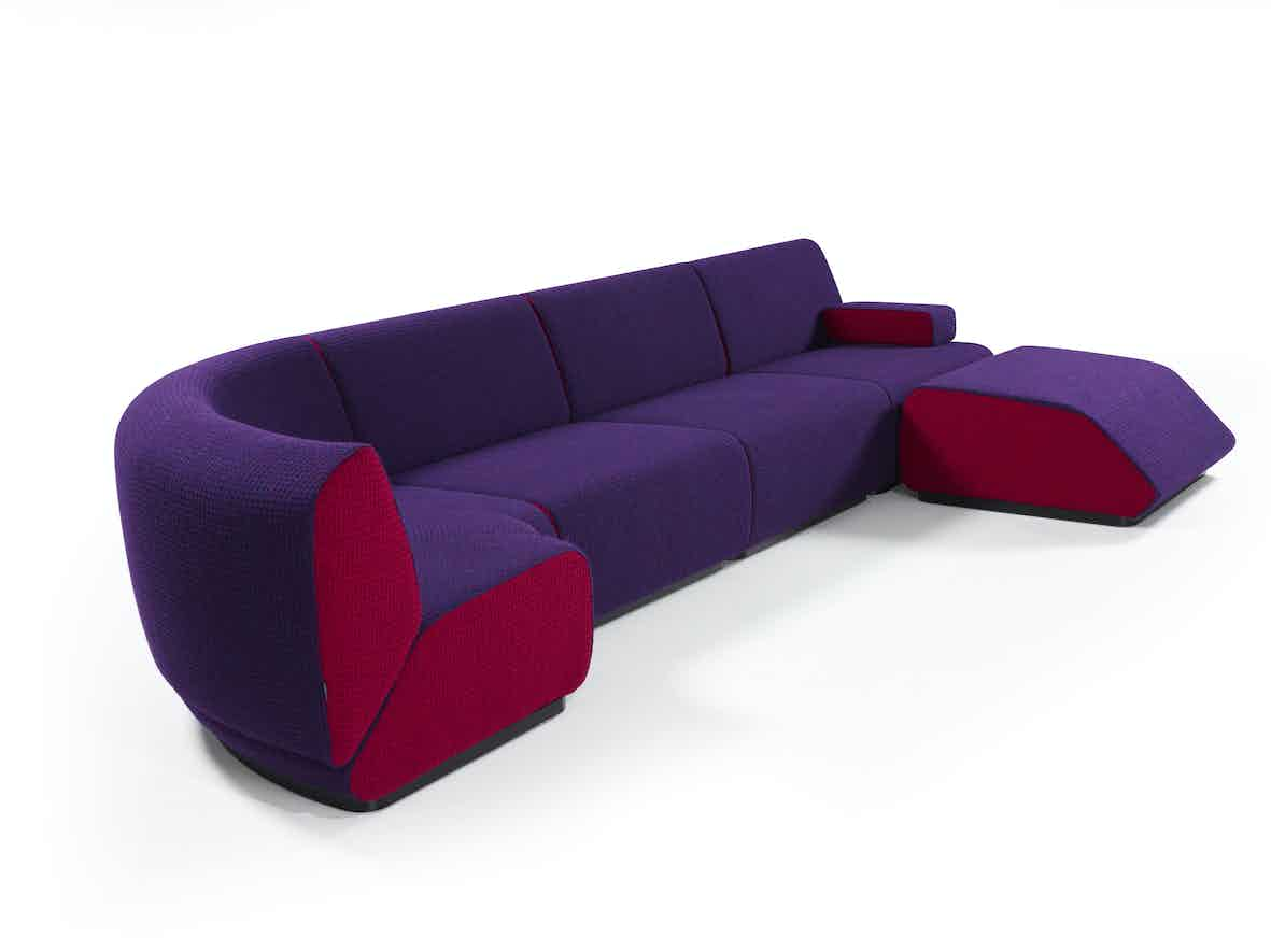Artifort Purple Red Manhattan Sofa