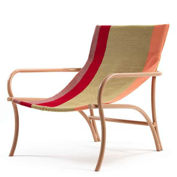 Ames furniture design maraca lounge chair red haute living