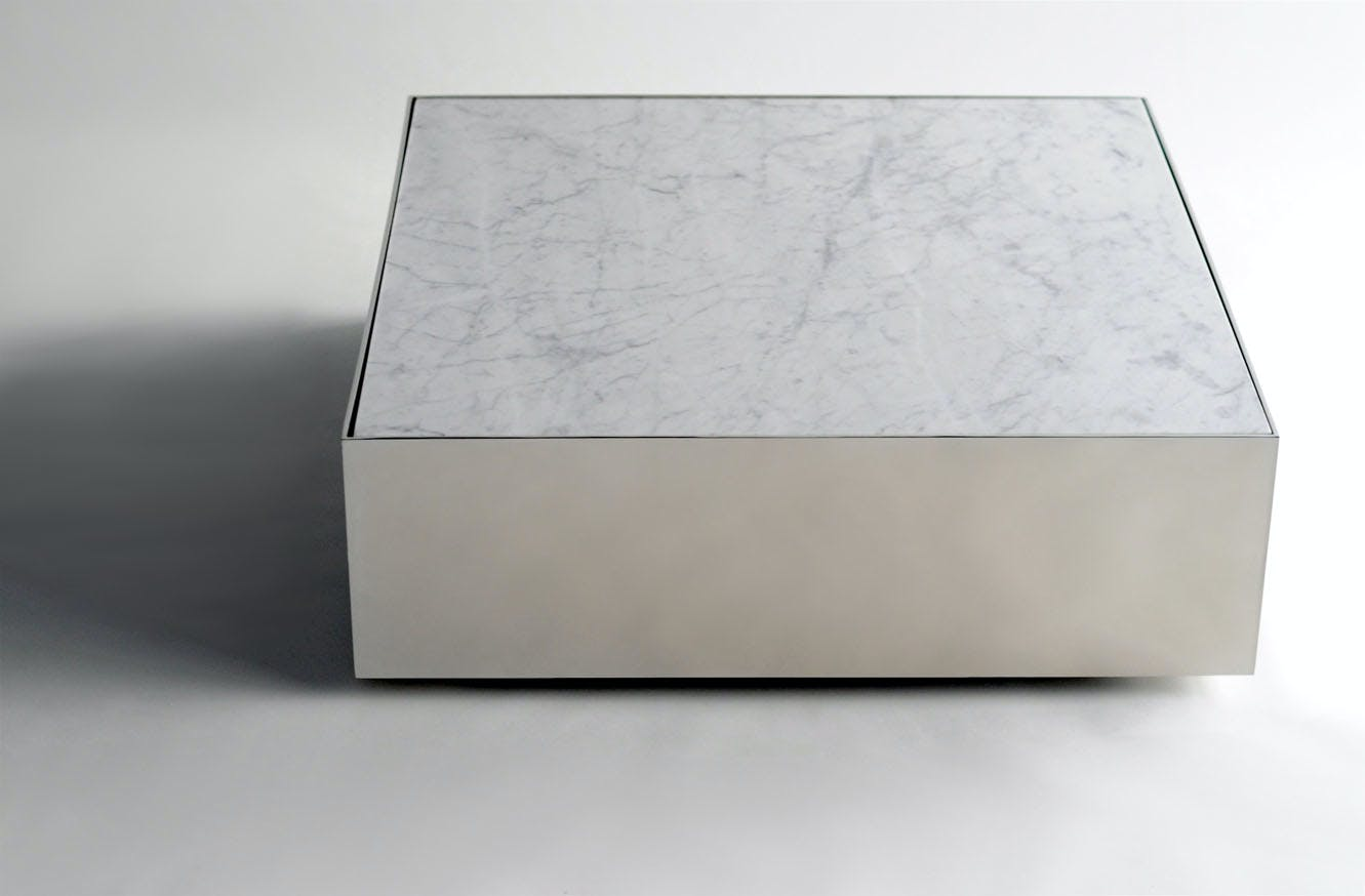 Phase Design Reza Feiz Marble Ballot Coffee Table 1
