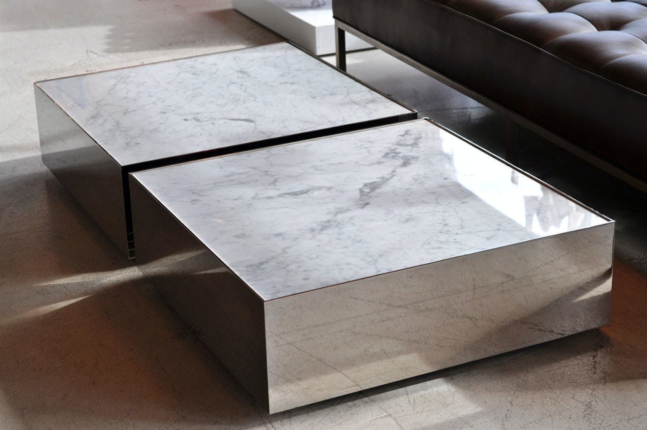 Phase Design Reza Feiz Marble Ballot Coffee Table 2