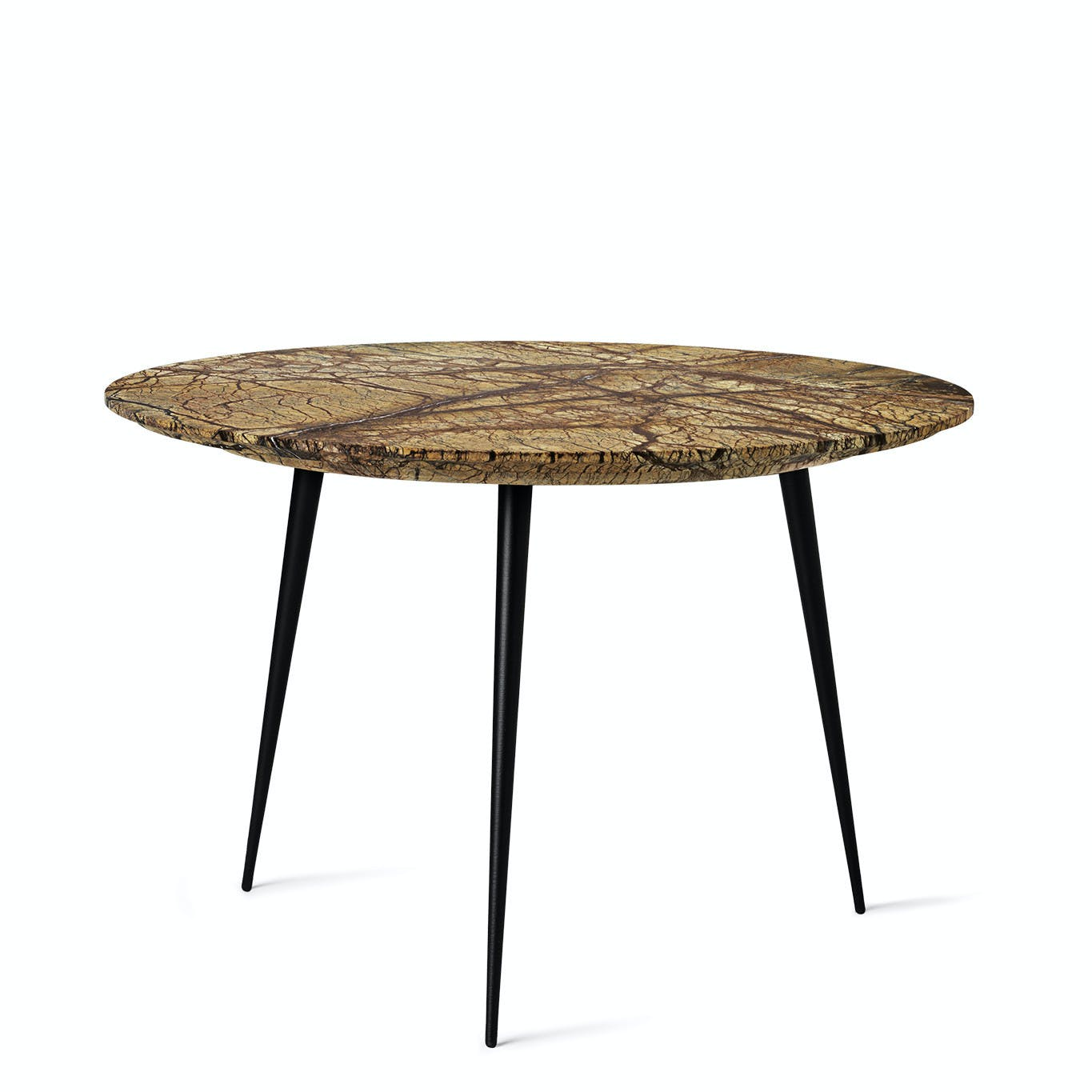 Mater Jungle Brown Marble Disc Table Haute Living