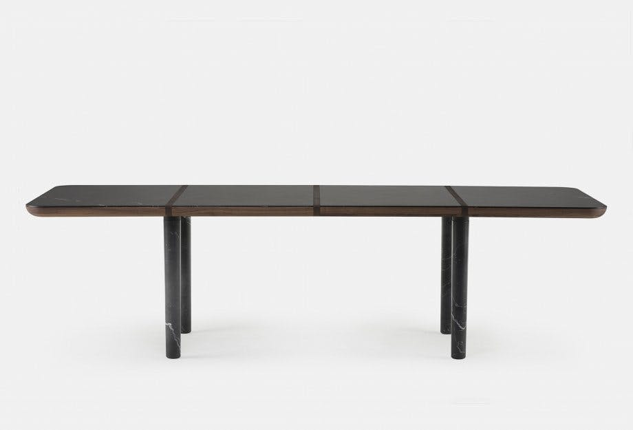 Marlon Rectangular Table By Nichetto In Walnut And Black Marble  Frontweb 920X625