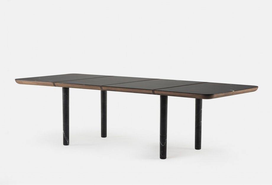 Marlon Rectangular Table By Nichetto In Walnut And Black Marbleweb 920X625