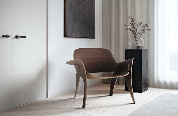 Massproductions rose chair insitu haute living