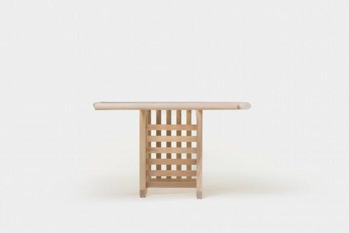 De La Espada Autoban Maze Table White Oak Side 2 Haute Living